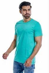 Cotton Round Men Plain T-Shirt