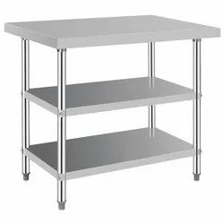 S.S Commercial Work Table with Overshelves.