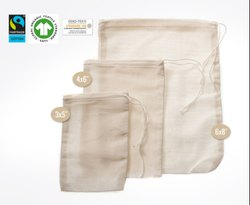 Organic Cotton Draw String Bags