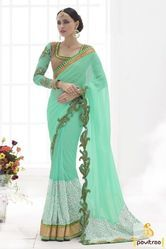 Party Wear Mix Fancy Embroidery Saree