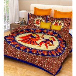 Dashing look dandiya Print Double Bedsheets