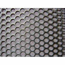 Hot Rolled Round GI Perforated Sheet, Size: 4 X 8 Feet