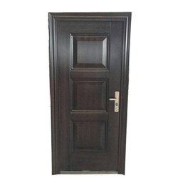 Heat Transfer Paint Decorative Steel Security Doors, Single