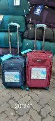 Nylon Fabric Trolley Suitcase, 4, Size: 20'24