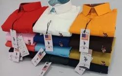 Formal Wear US Polo Plain Shirts, Machine wash, Packaging Type: Poly Bag