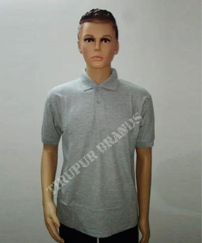 f8b92e377 Cotton Half Sleeves Grey Polo T Shirts, Rs 200 /piece, Tirupur ...