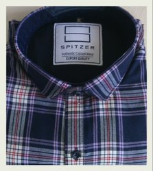 Checked Indigo Spitzer Check Shirt 12