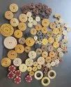 Brown And Natural (optional) Wooden Button, Size/dimension: 8 To 12 Mm