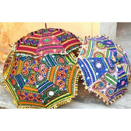 Pita Shree Multicolor Rajasthani Handcrafted Umbrellas, Size: 24*28 Inch