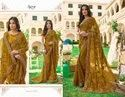 Mustard Color Fancy Georgette Saree