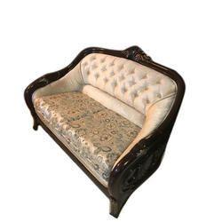 White Wood Luxury Wooden Sofa