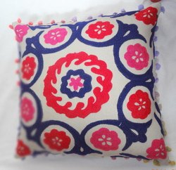 Colourful Embroidered Cushion Cover