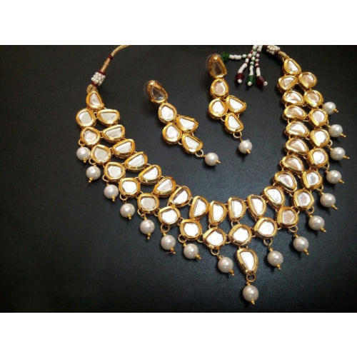 1b19b0d2673b7 Partywear Gold Plated Necklace Jewelry Set