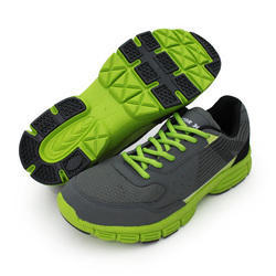 Green & Gray Jogging Shoes, Size: 7 To 9