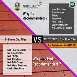 Clay Weather Proof Tile - White Feet Tile - Silverplus