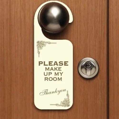 Printed Mdf Door Hangers डोर हैंगर दरवाजे का हैंगर D