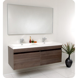 wooden bathroom vanity