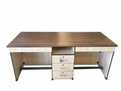 Western Interio Wooden ED 05 Executive Table, No. Of Drawers: 3, Size: 6x2.5 Feet
