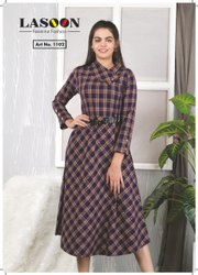 5021 Ladies Woolen Fancy Kurtis