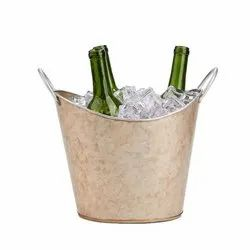 Galvanized Metal Copper Champagne Bucket Wine Cooler Ice Bucket
