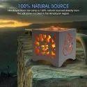 Himalayan Rock Salt WPC Basket Lamp