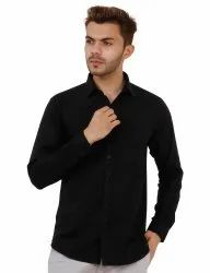 Black Color Full Sleeve Plain Shirt