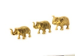 Gold Plated Elephant Figure