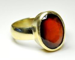 Hessonite Ring (Gomed)