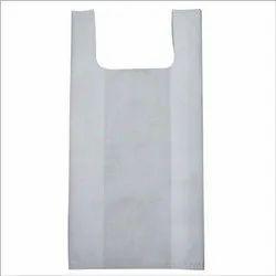 Plain White Non Woven U Cut Grocery Bag