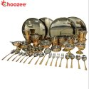 Copper / Stainless Steel Thali Set(46 Pcs) for 4 People