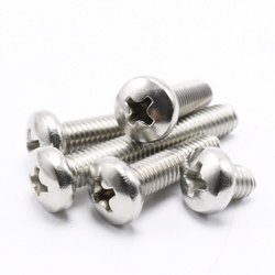 Stainless Steel Pan Phillips Head Machine Screw, Size: M3 - M8