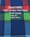 Yarn Dyed Twill Check (Basil Mill)