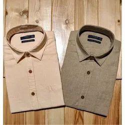 Men Full Sleeves Mens Formal Linen Shirt, Handwash