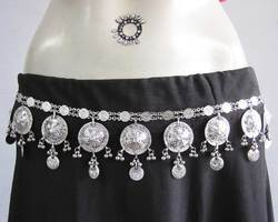 Belt Wedding Dress Sash Coin Festival Daance Jewelry