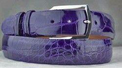 Blue Leather Belt
