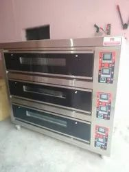 Electric 3 Deck 9 Trays Baking Oven