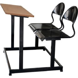 Iron Two Seater School Desk Bench