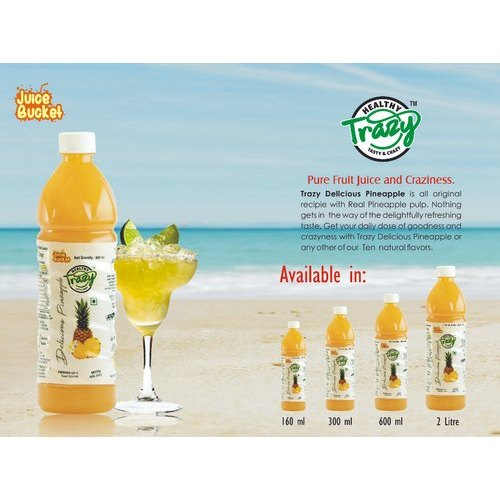 Trazy Pineapple Juice, Packaging: Carton