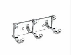 TOSHIRO 3 Pin J Type Hook SS Bathroom Cloth Hooks / Hanger / Key Holder/Towel, cloth