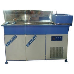 Blue and White Semi-Automatic Cooling Ductility Testing Machine