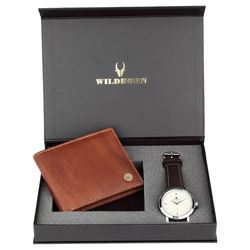 Leather Wallet and Watch Gift Combo