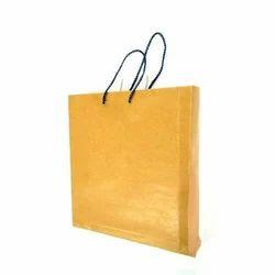Yellow Plain Handmade Paper Bag