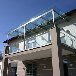 Balcony Glass Railing Work