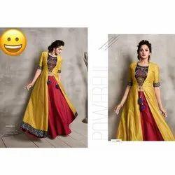 Female Printed Ladies Party Wear Dress