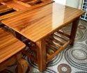 Brown Wooden Tea Table