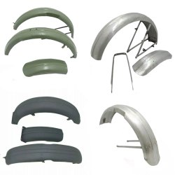 Triumph Motorcycle Fender Set Assembly British Bike Replacement Spare Parts