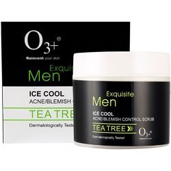 O3  Reinvent Your Skin Exquisite Men Ice Cool Acne/Blemish Control Scrub Tea Tree 300ml