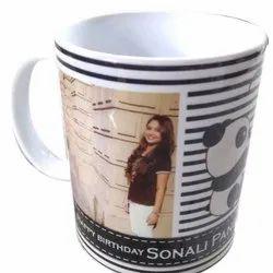 White Ceramic Printed Coffee Mug, for Gifting, Capacity: 350-500ml