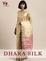 Dhara Silk Saree Kanjivaram Art Silk Saree By Yadu Nandan Fashion