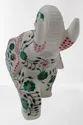 Alabaster White Marble Elephant Soft Stone For Interior Decor